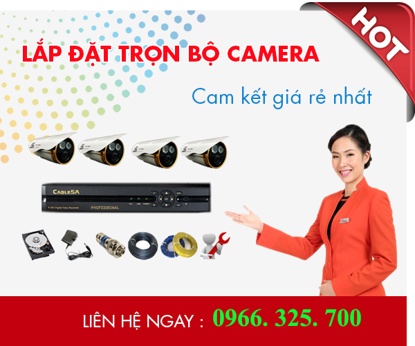 Lắp đặt camera quán sát giá rẻ tại nghệ an